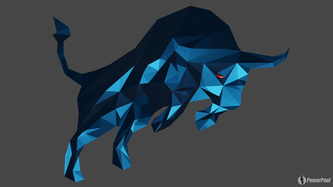Bear, give up! | Tutorial | Lowpoly/Polygon Bull with Blender 2.8 [ENG/DEU]