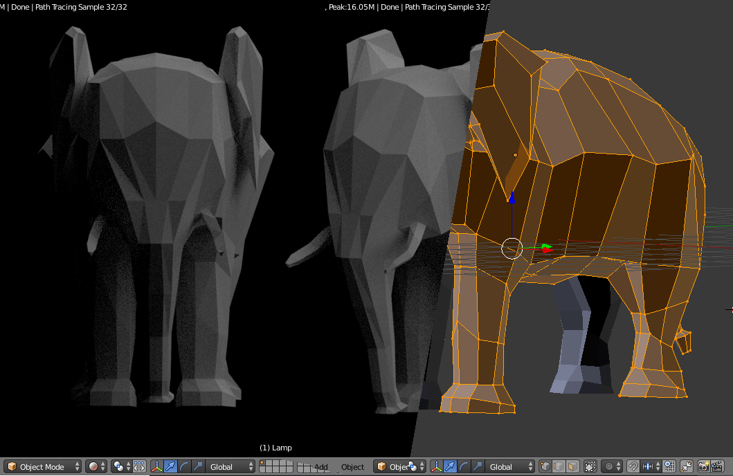 When I grow up, I'm Elvis the elephant – say hello to Elvis! | My first modeling in Blender [ENG/DEU]